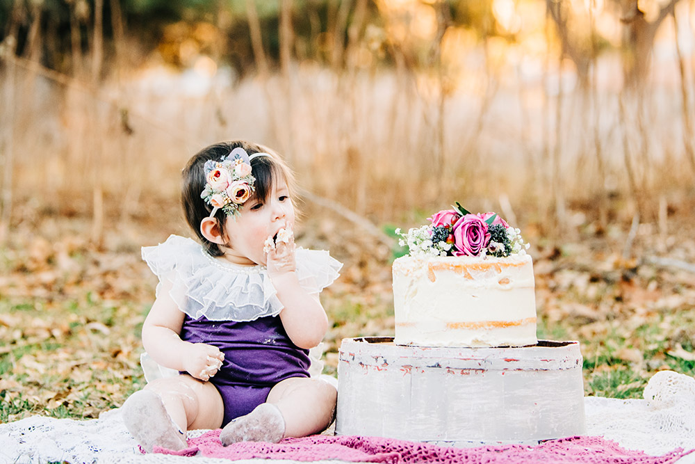 baby eating cake in san antonio texas