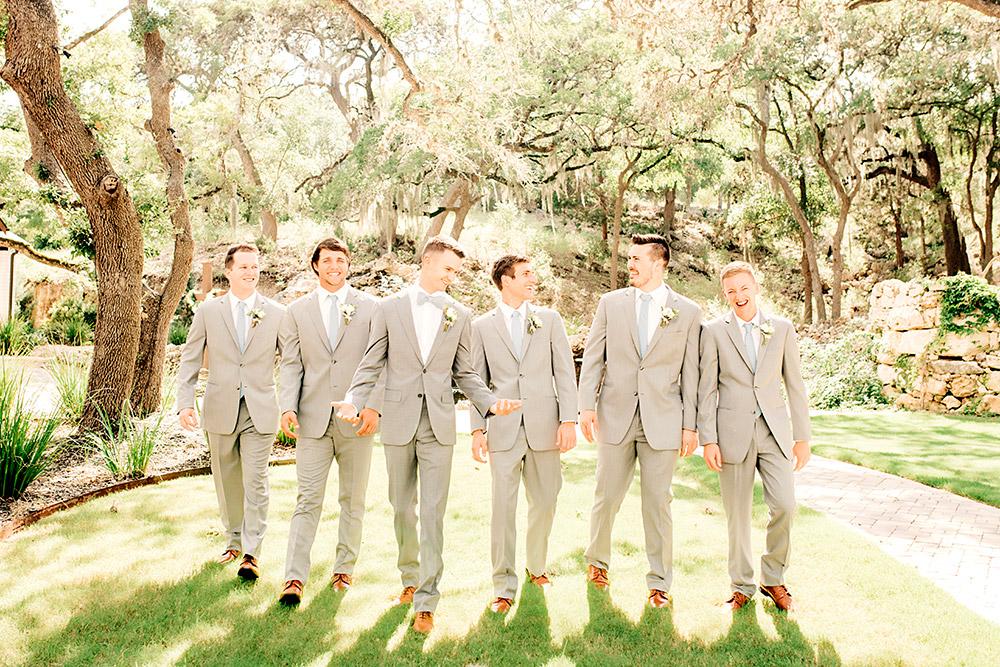 groom and groomsmen in san antonio texas