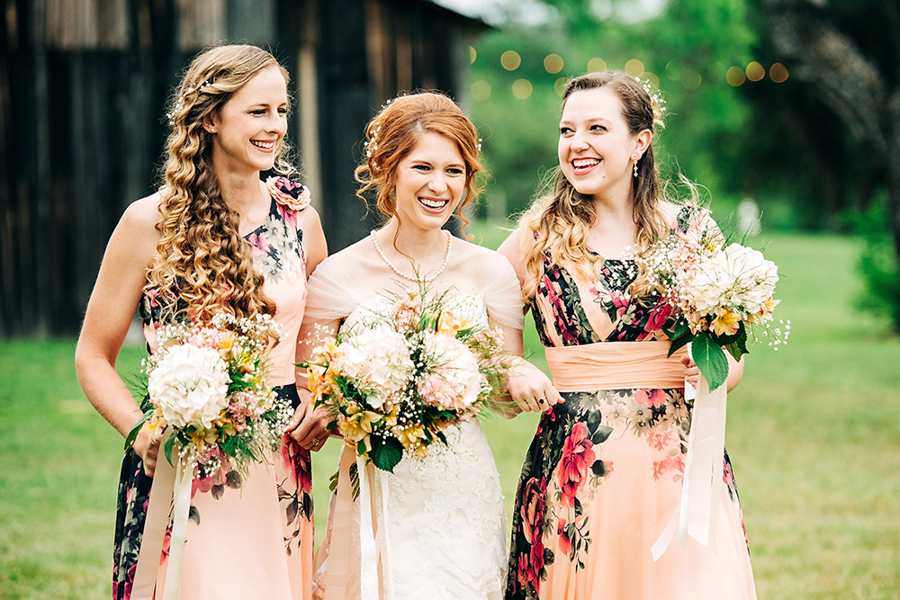 bride and bridesmaids in san antonio texas