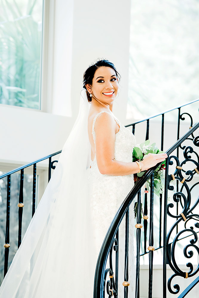 bride in wedding dress in san antonio texas