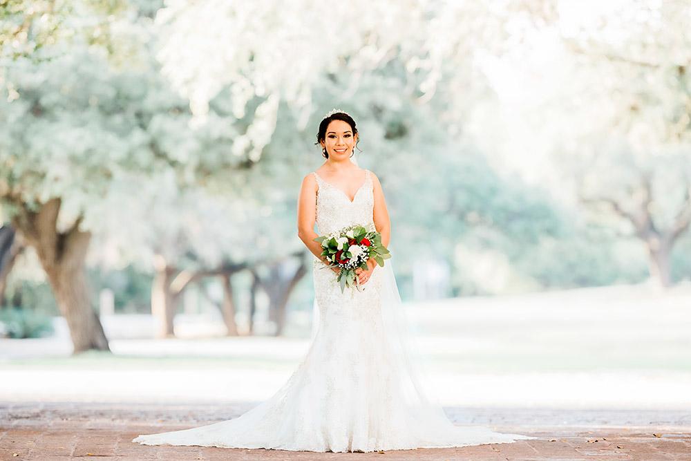 bride in wedding dress in san antonio texas