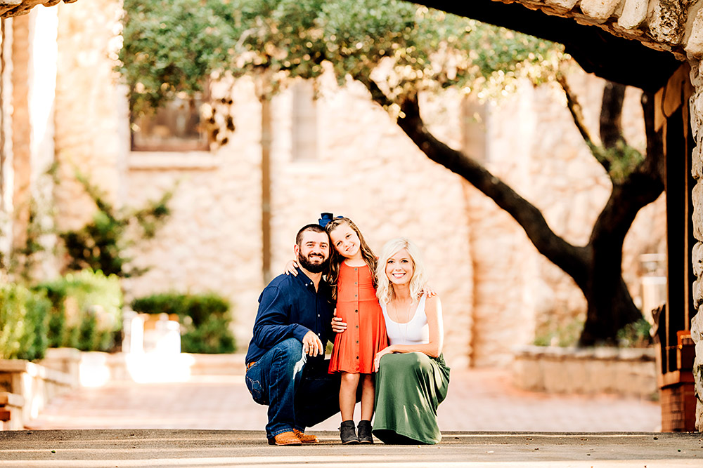 family of three in san antonio texas