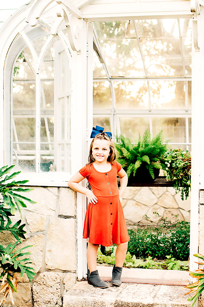 little girl with bow in san antonio texas