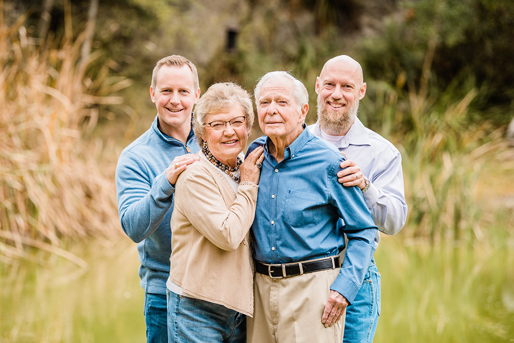middle aged couple and sons in san antonio texas