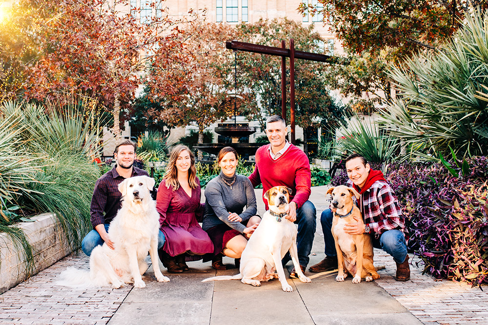 family and dogs in san antonio texas