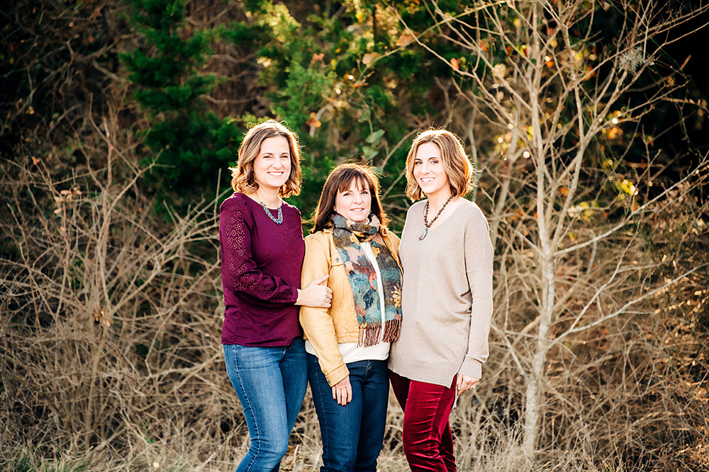 three woman smiling in texas hill country