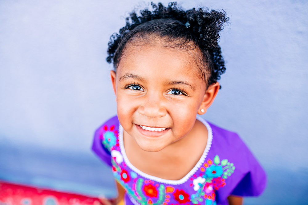 little girl smiling in san antonio texas