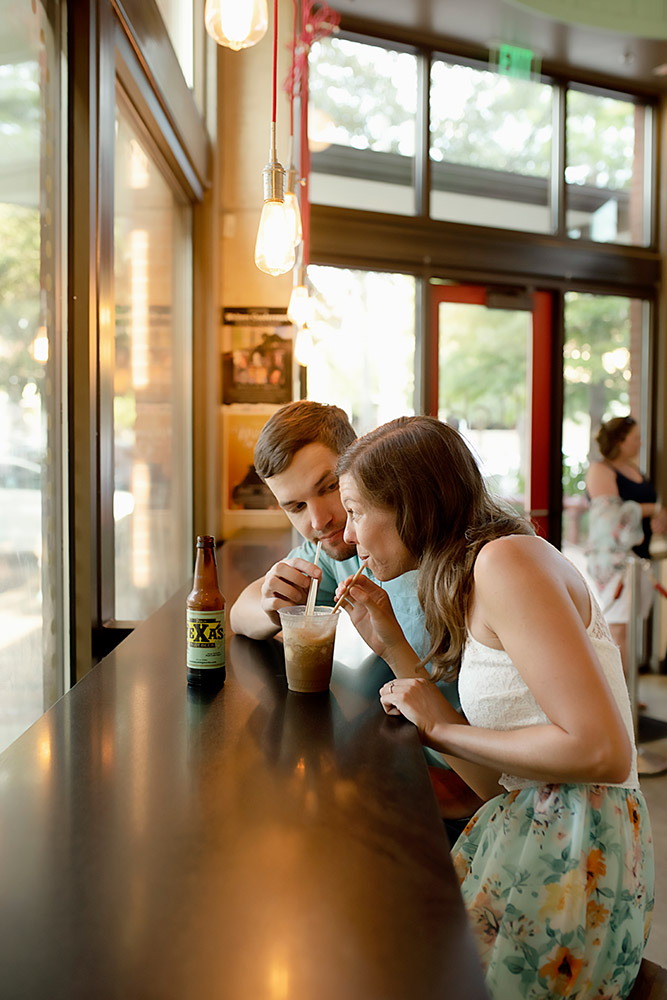 couple sharing a drink in san antonio texas